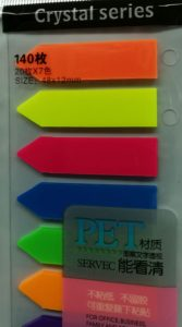 Brightly coloured stickies