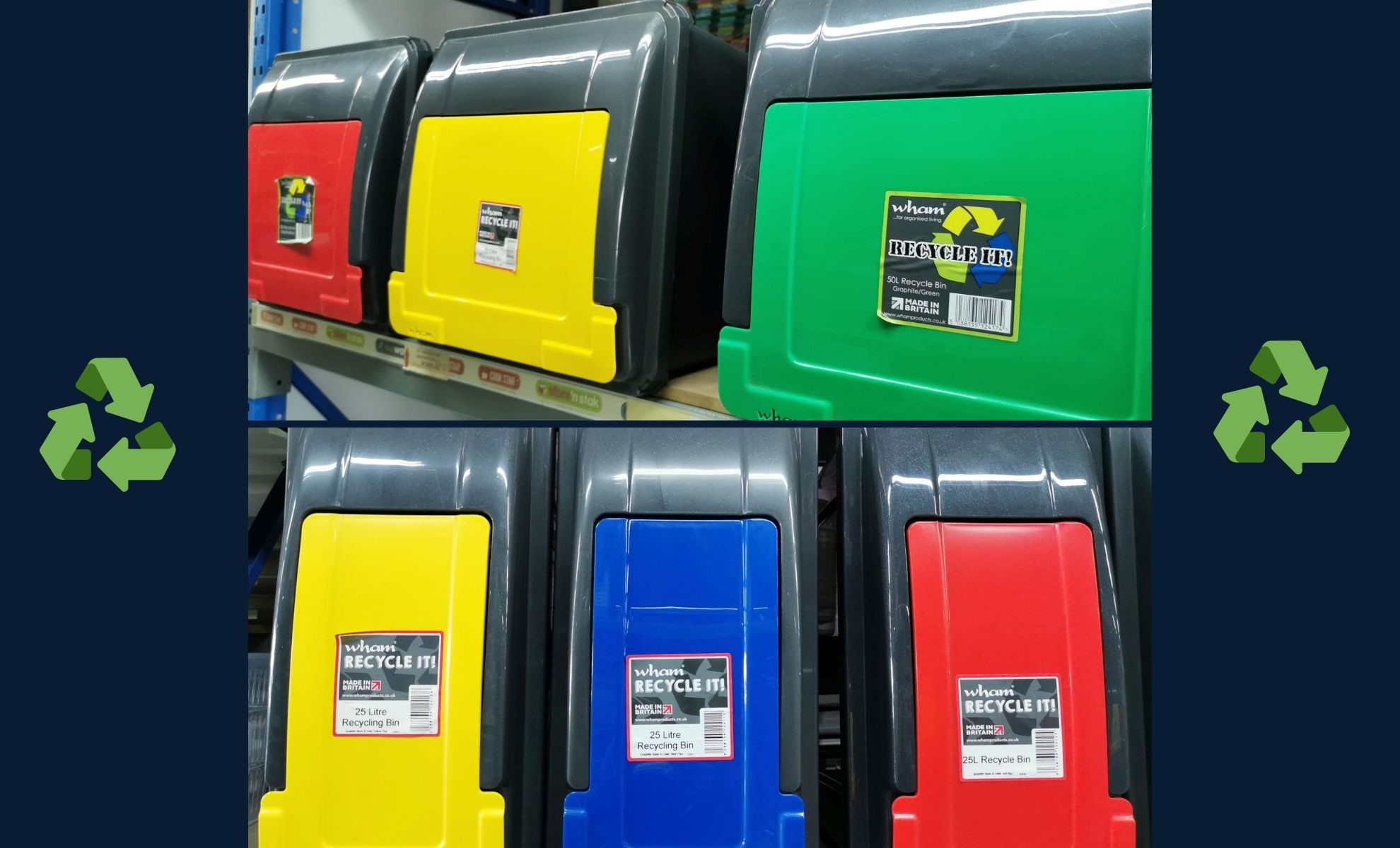 Rewards of Home Recycling with Colour Coded Storage Bins
